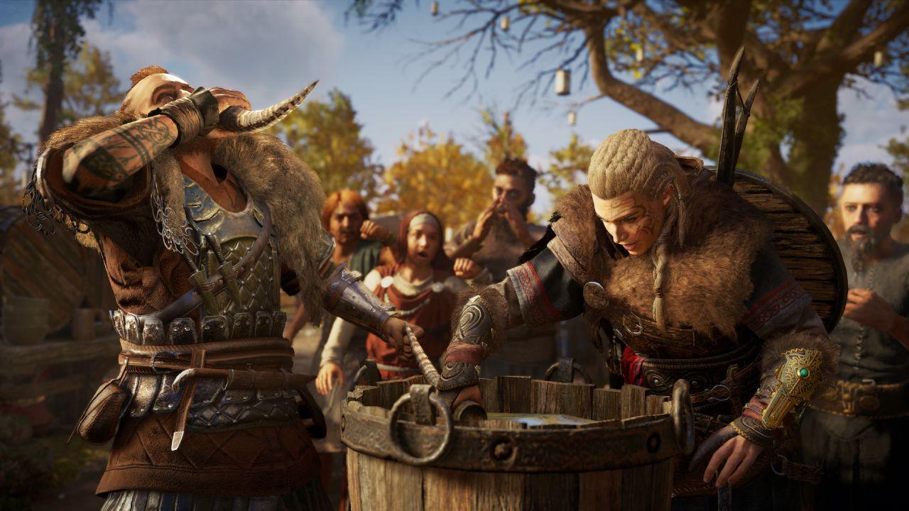 Assassin's Creed Valhalla: un bug rende Eivor costantemente ubriaco