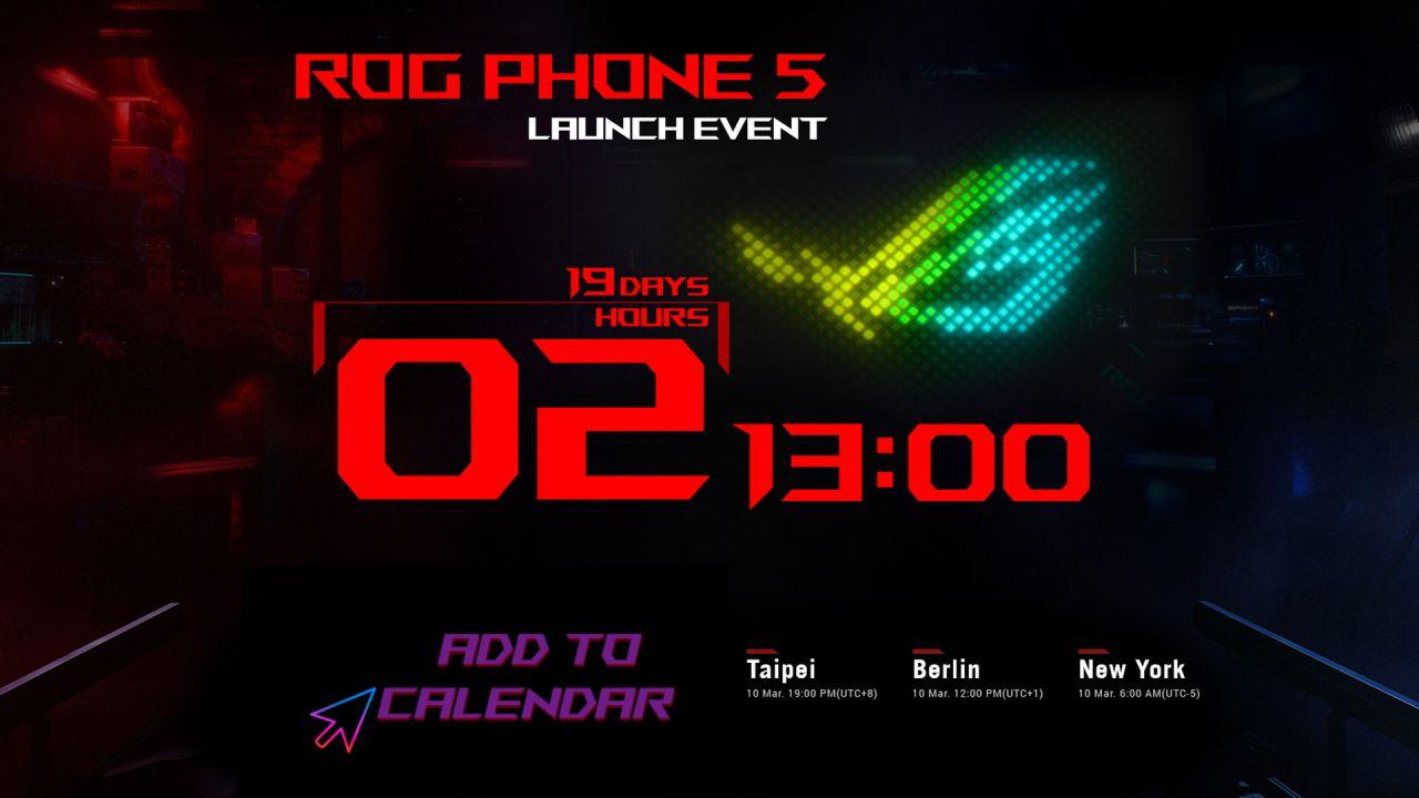 Asus ROG Phone 5, ci siamo quasi: sul sito ufficiale appare il countdown