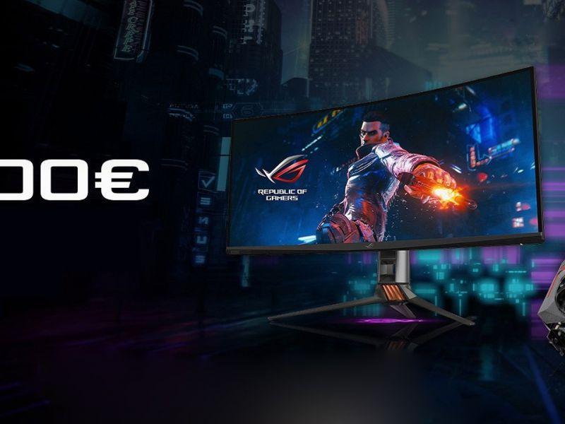ASUS ROG, una promo offre fino a 300 euro di rimborso su monitor e GPU