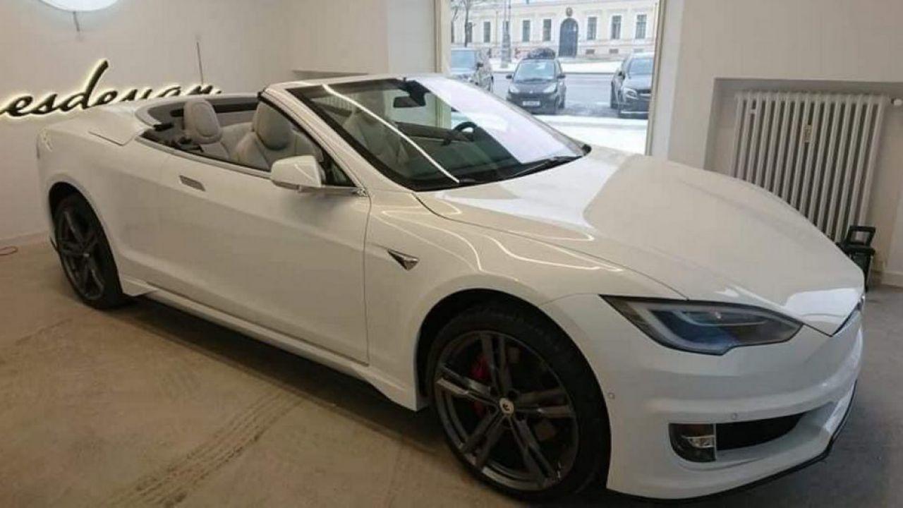 Avvistata una fantastica Tesla Model S convertibile, ma è reale?
