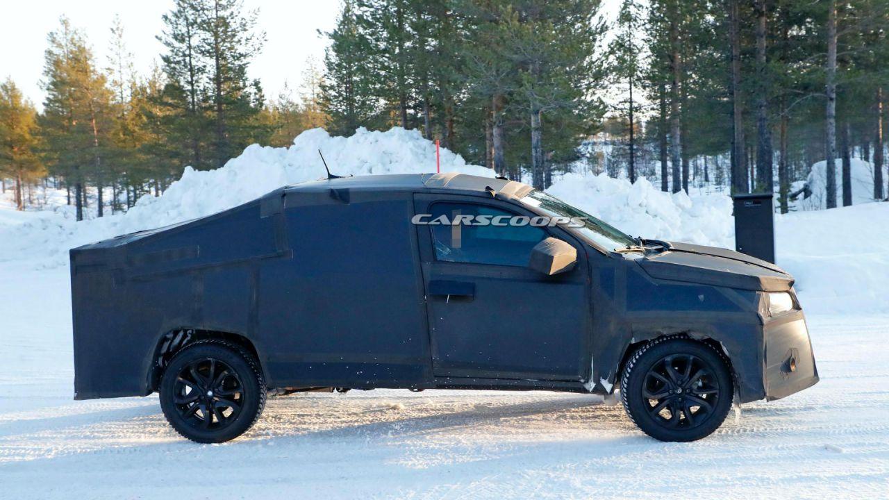 Avvistato il misterioso pick-up Fiat in mezzo alla neve: ecco il Fiat Strada