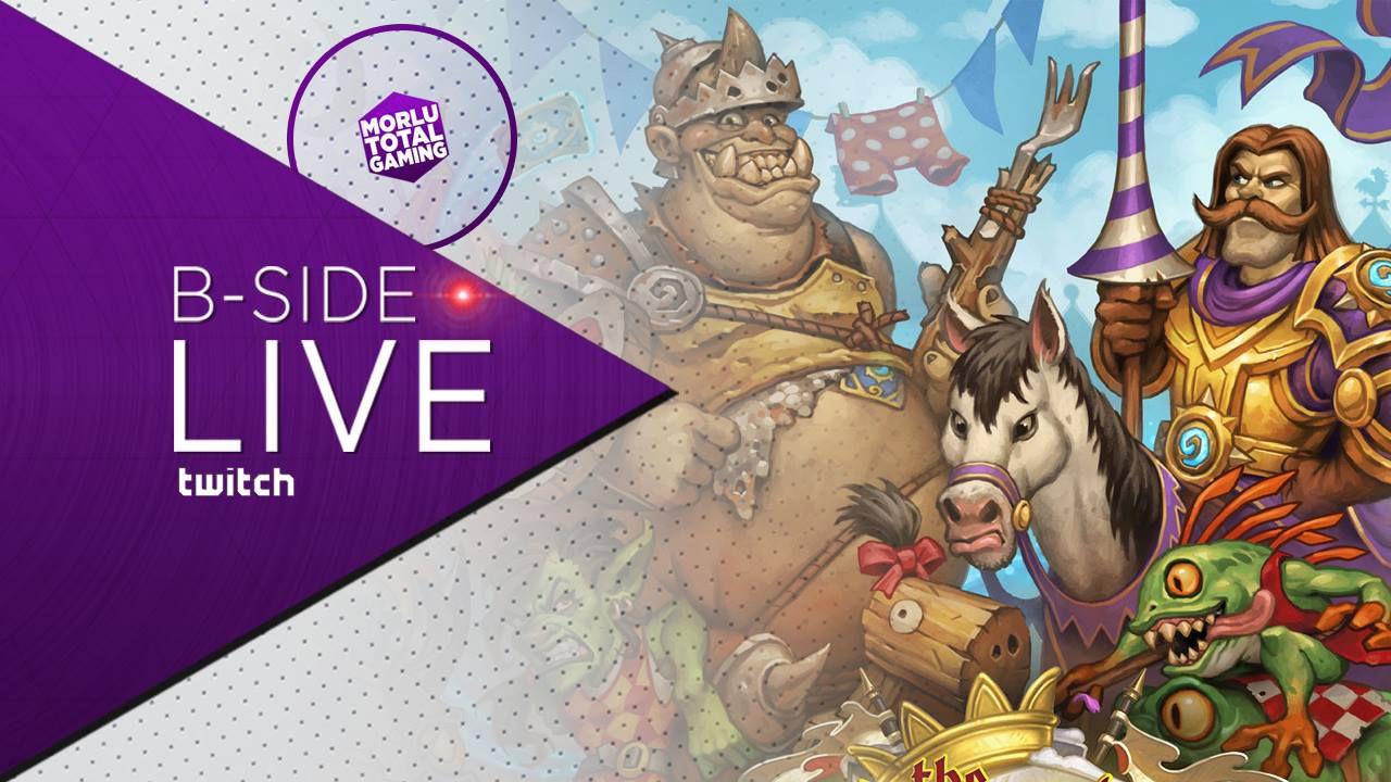 B-Side con Morlu Total Gaming: Hearthstone giocato in diretta su Twitch - Replica Live 11/09/2015