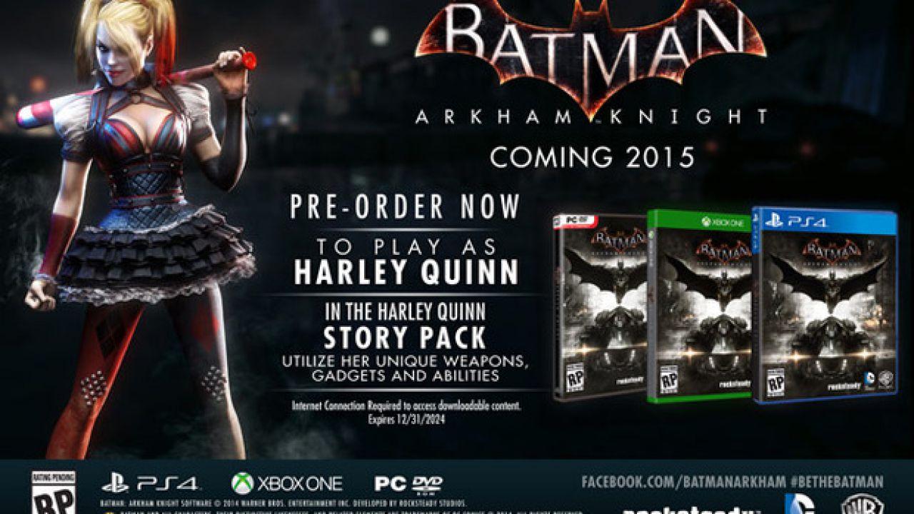 Batman Arkham Knight: Rocksteady spiega i motivi per cui il gioco non uscirà su Wii U e current gen