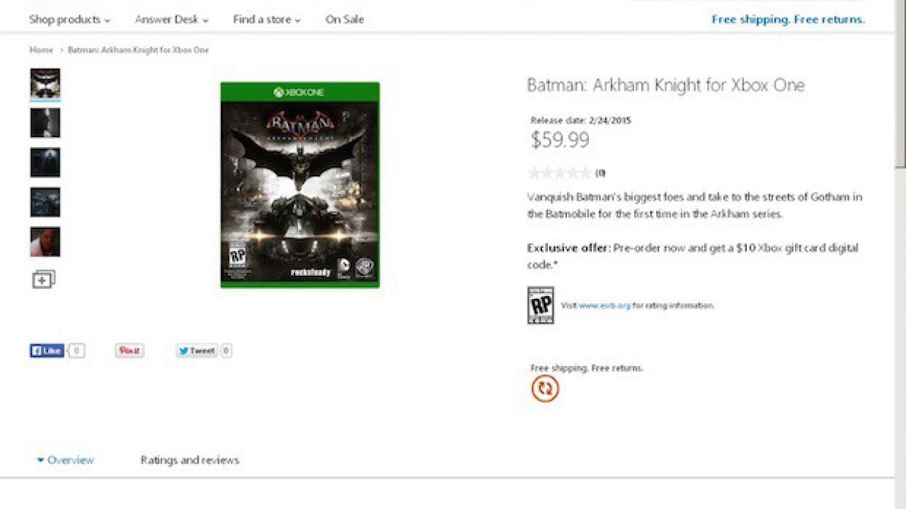 Batman Arkham Knight, si punta alla parità per le versioni PlayStation 4 e Xbox One