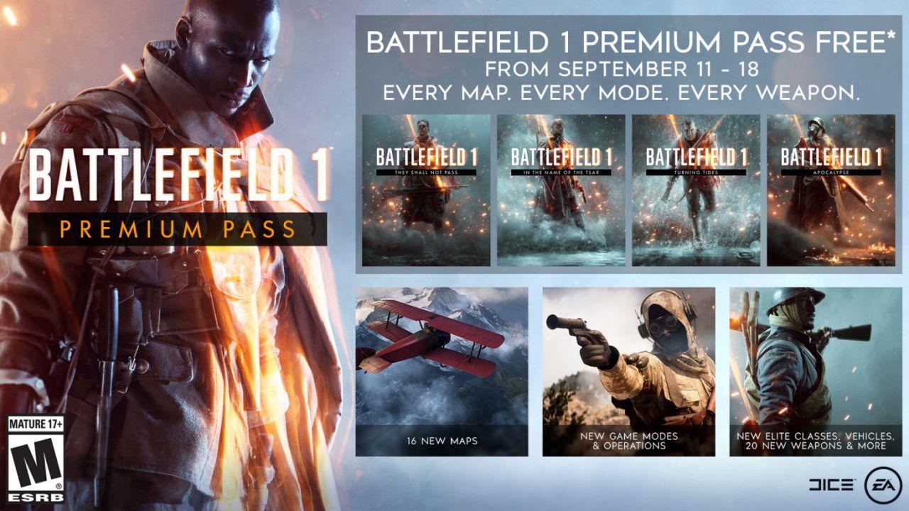 Battlefield 1: il Premium Pass è gratis per tutti fino al 18 settembre