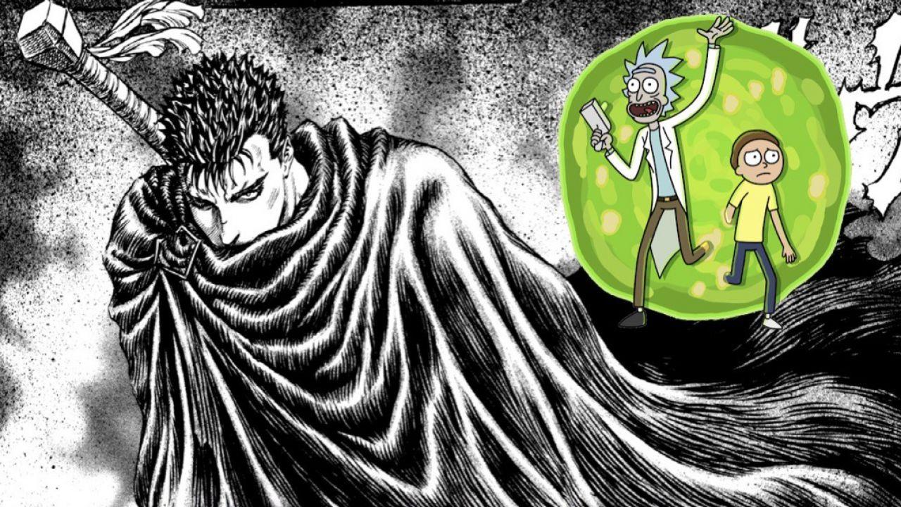 Berserk: l'opera di Miura incontra Rick e Morty in un esilarante crossover