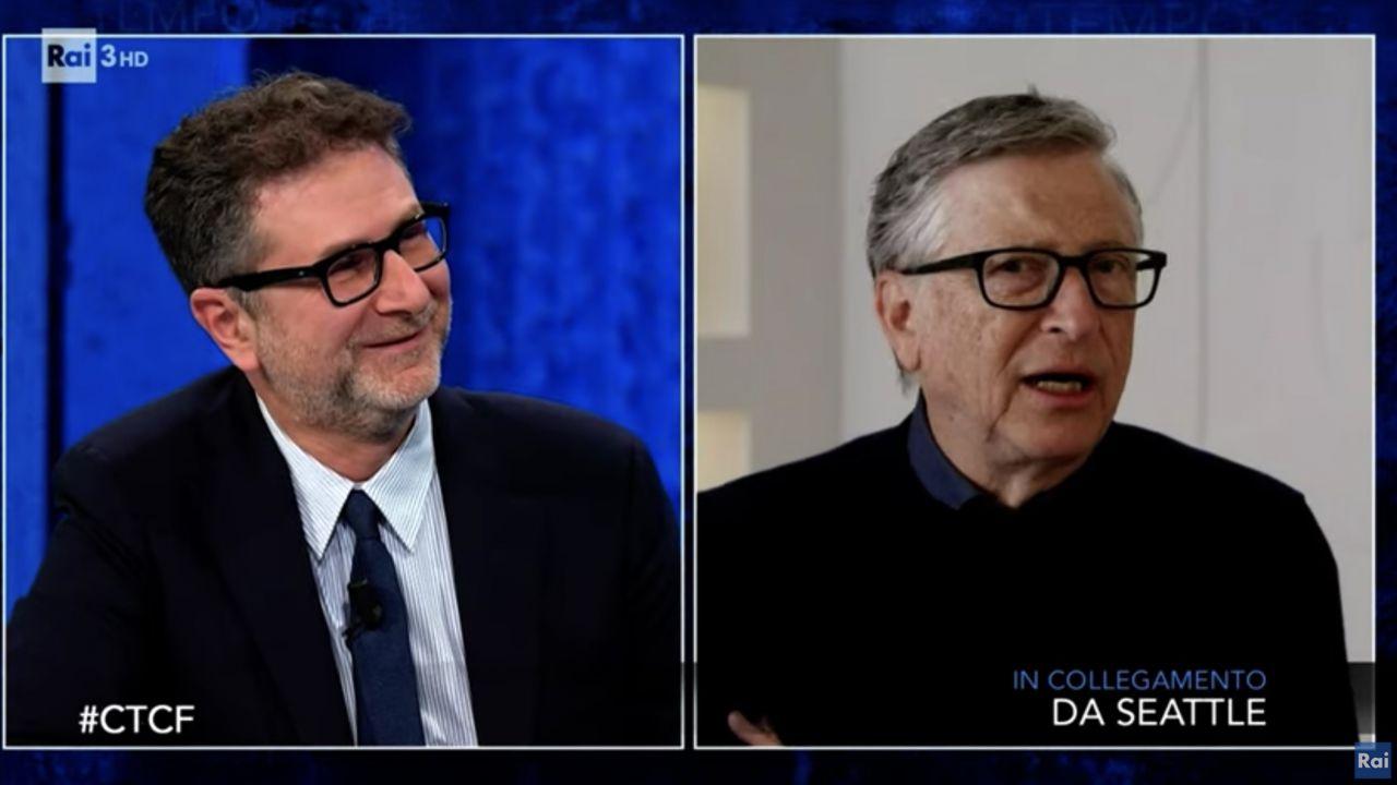Bill Gates a Che Tempo Che Fa: ecco come vedere l'intervista di Fabio Fazio