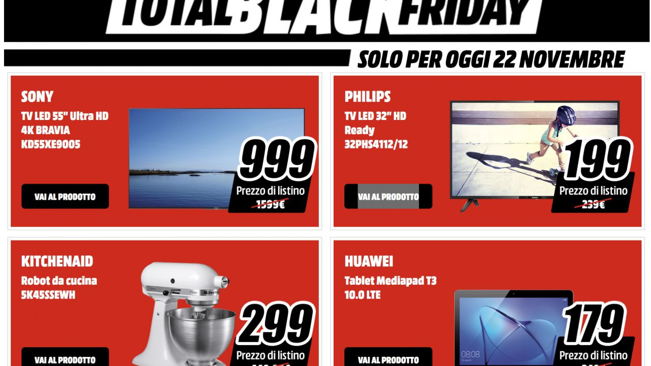 Black friday mediaworld tv sony e philips in offerta for Black friday televisori