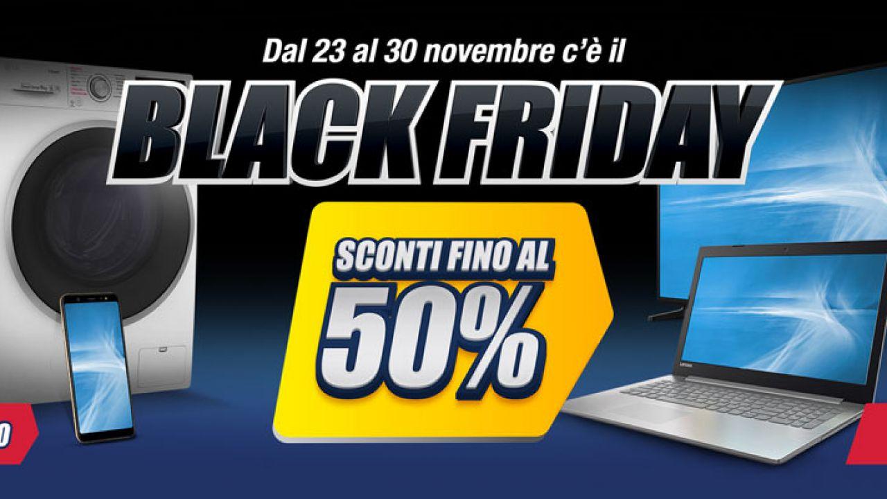Black Weekend Trony: sconti su TV, smartphone, PC e notebook