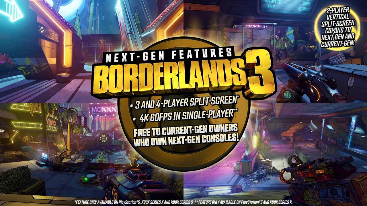 Borderlands 3: 4K e 60 fps con l'upgrade gratis a PS5 e Xbox Series X