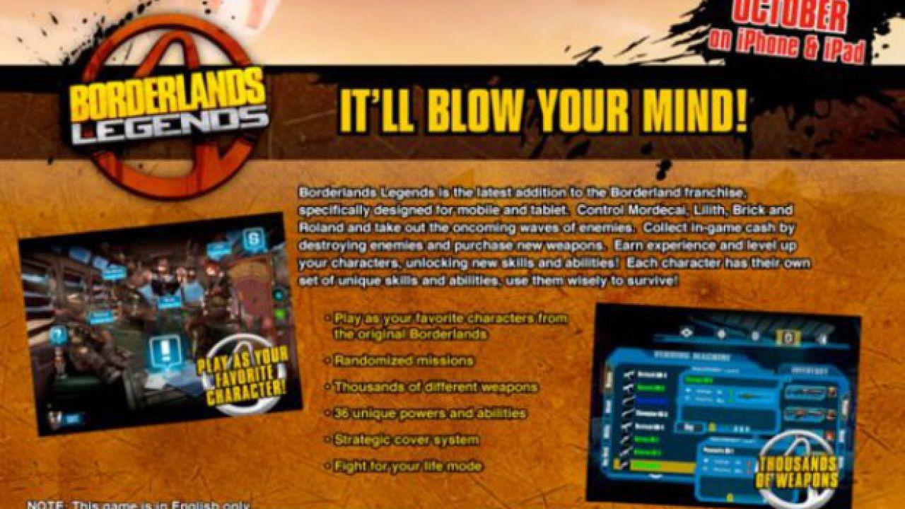 Borderlands Legends: disponibile un nuovo aggiornamento