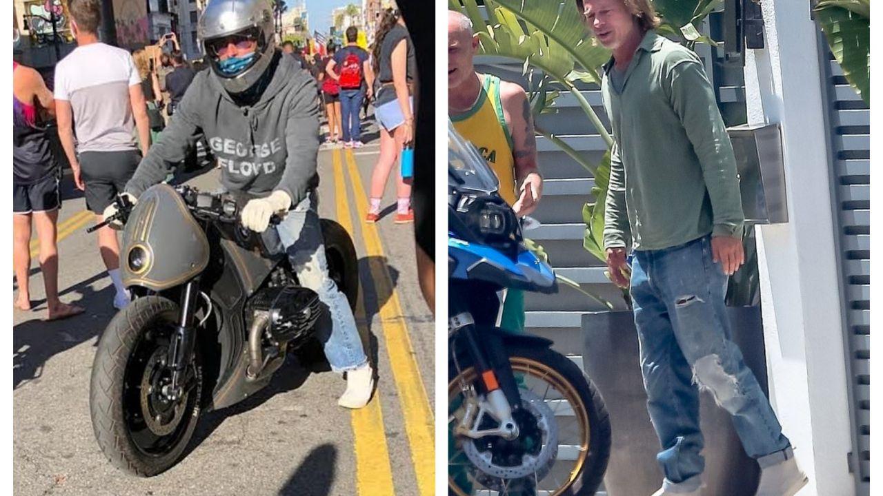 Brad Pitt si unisce alle proteste per George Floyd: lo fa a bordo di una BMW R nineT