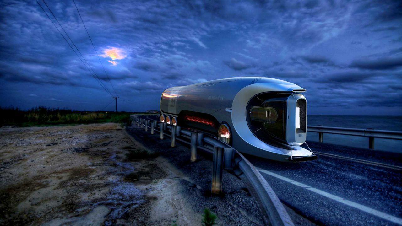 Bugatti Hyper Truck Concept, il rimorchio che sfida il Tesla Semi