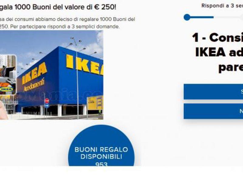 Buoni regalo IKEA da 250 Euro via Whatsapp: occhio alla truffa!