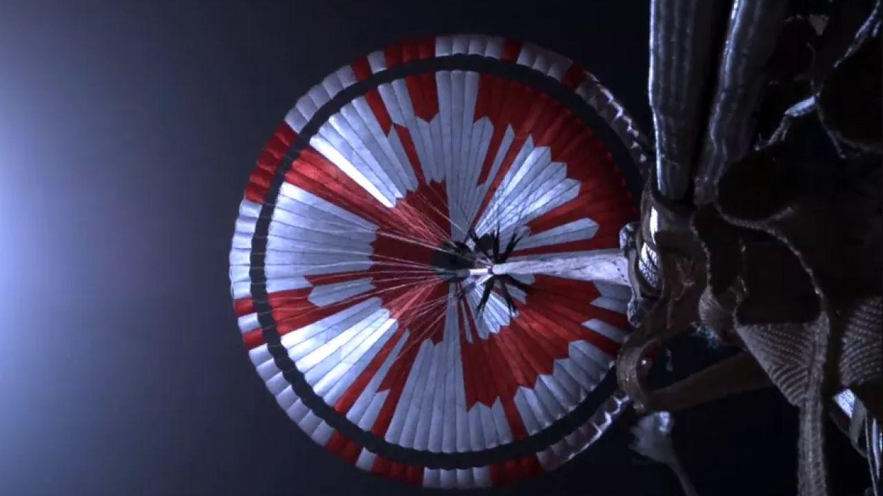 C'è un messaggio segreto nel paracadute del rover Perseverance su Marte