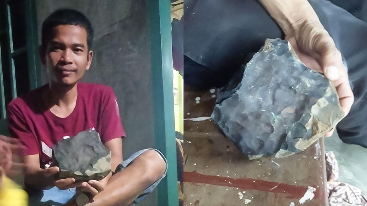 Cade un meteorite davanti casa e lo rivende per cifre milionarie: è accaduto in Indonesia