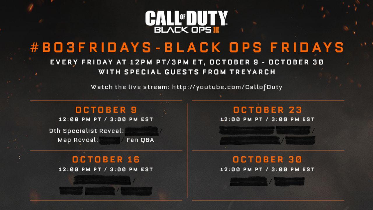 Call of Duty Black Ops 3: nuovi dettagli ogni venerdì per tutto il mese di ottobre
