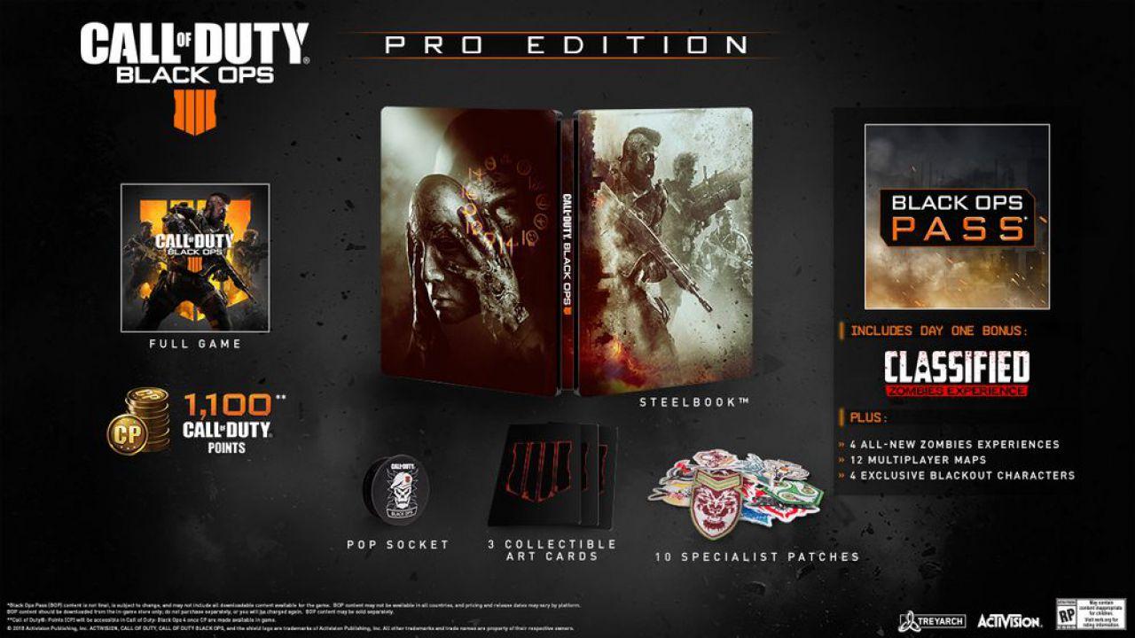 Call of Duty Black Ops 4: dettagli su edizioni speciali, bonus preordine e season pass