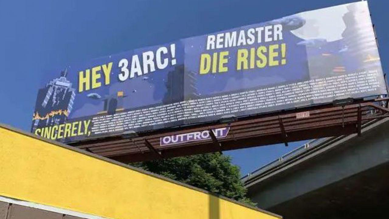 Call of Duty Zombie: un cartellone per chiedere il ritorno della mappa Die Rise