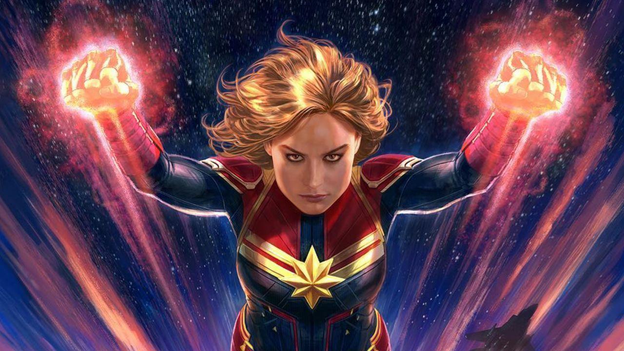 Captain Marvel: la supereroina risplende nel cielo in un magnifico concept art!