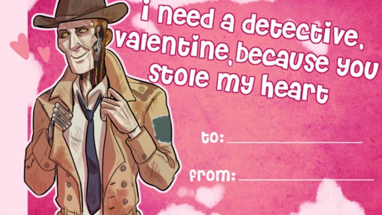 Cartoline di San Valentino a tema Fallout 4
