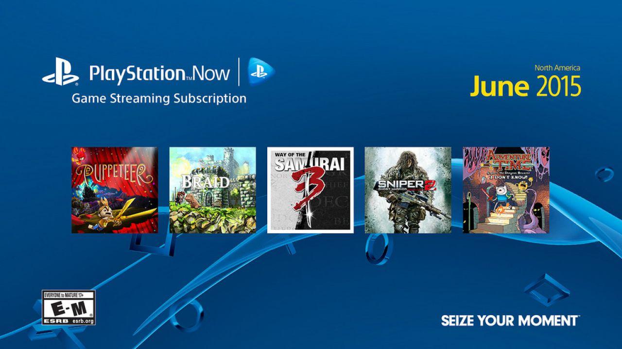 Cinque nuovi giochi entrano a far parte del catalogo PlayStation Now