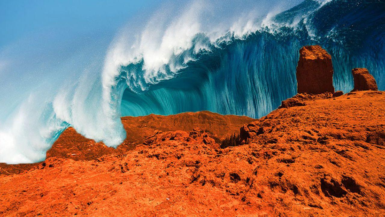 Risultati immagini per marte mega tsunami