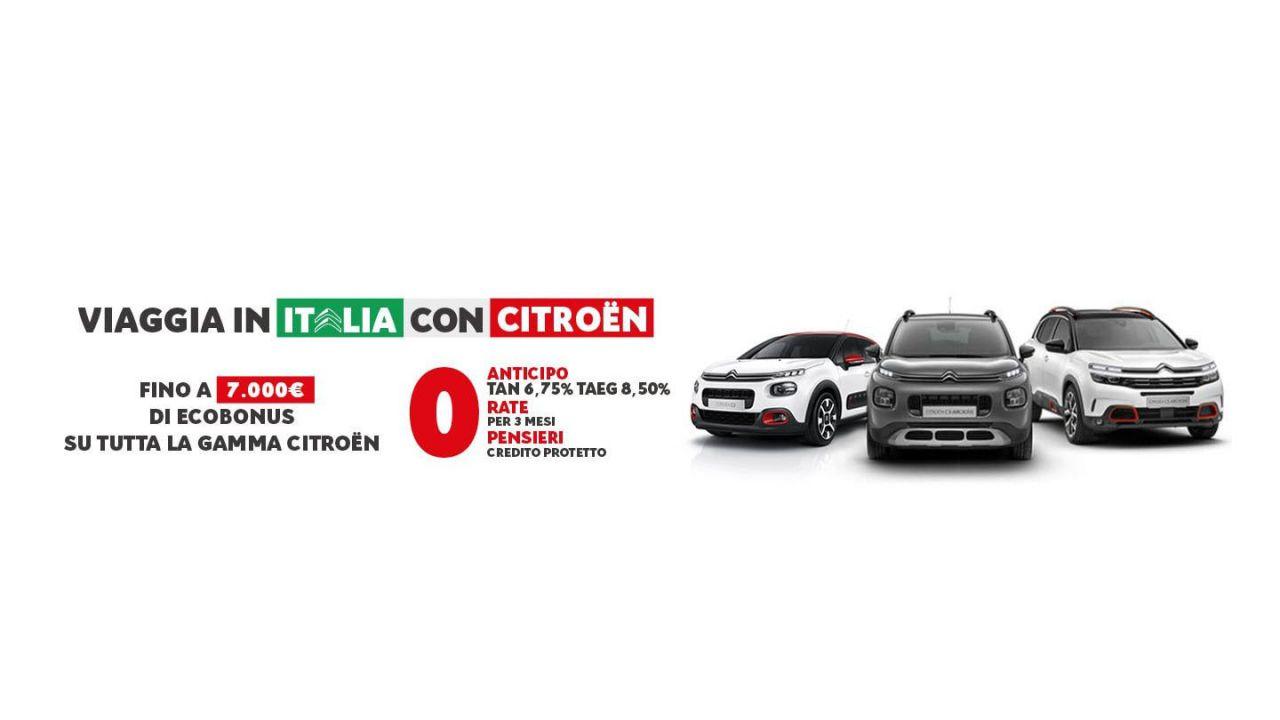 Citroen riparte con 7.000 euro di Ecobonus, Zero Anticipo e Zero Rate fino a settembre