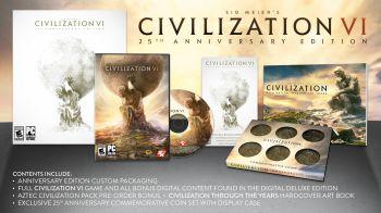 Civilization VI: l'edizione del 25° anniversario ha una tiratura di 20,000 copie
