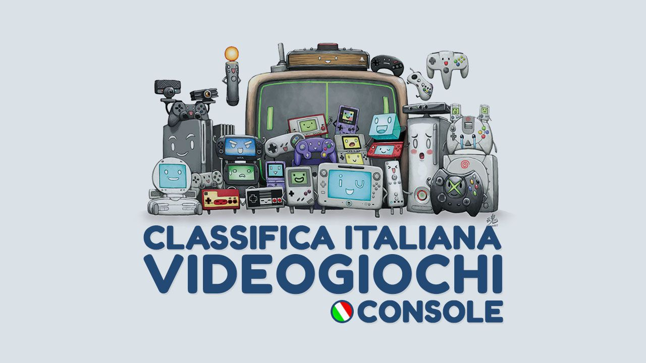Classifica Italia Software Console - Settimana dall'11 al 17 luglio 2016
