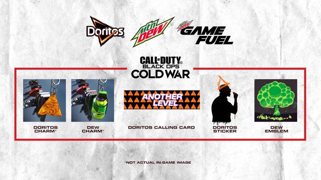 COD Black Ops Cold War: codice per sbloccare gratis gli accessori Doritos e Mountain Dew