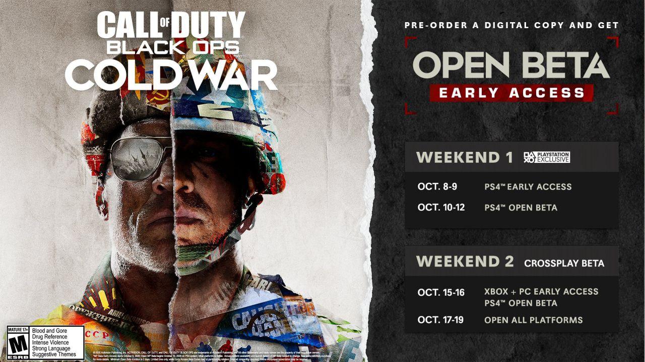 COD Black Ops Cold War: le date della Beta gratis per PS4, Xbox One e PC