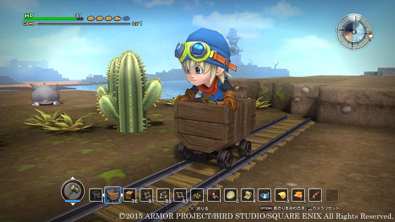 Corse sui carrelli nei nuovi scatti di Dragon Quest Builders