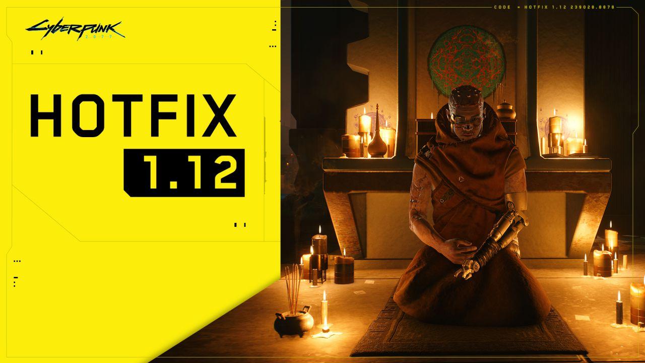 Cyberpunk 2077: l'hotfix 1.12 è disponibile su PC, ecco tutte le novità