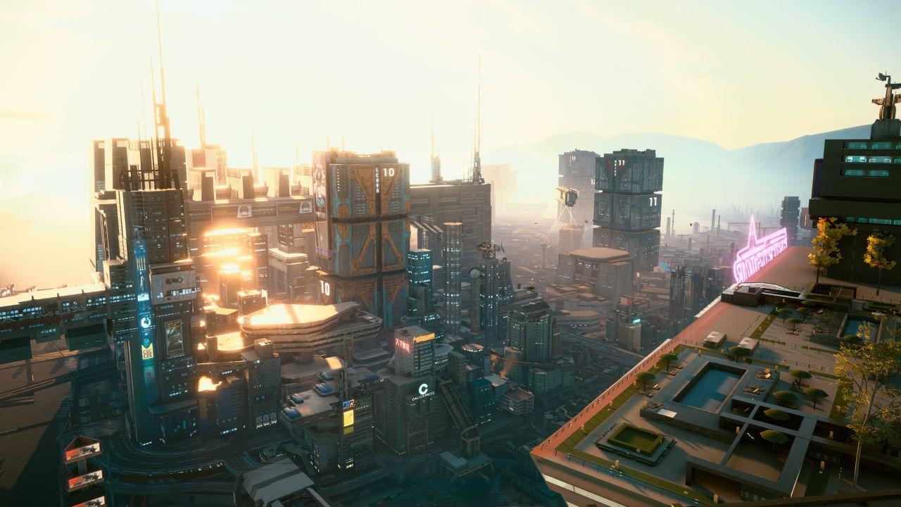 Cyberpunk 2077: una mod vi permette di volare tra i grattacieli di Night City