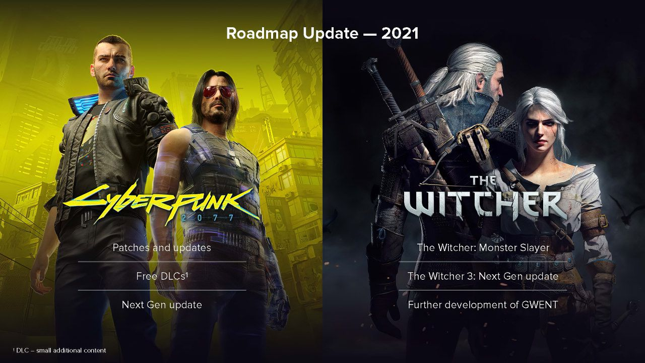 Cyberpunk 2077 e The Witcher: la nuova Roadmap 2021 tra patch next gen e DLC