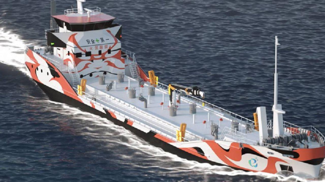 Dal Giappone arriva la prima nave cisterna completamente elettrica