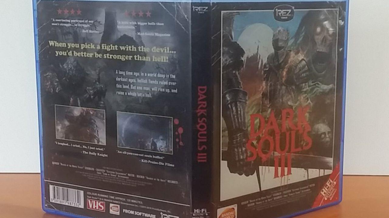 Dark Souls 3: copertina VHS anni '80 da stampare