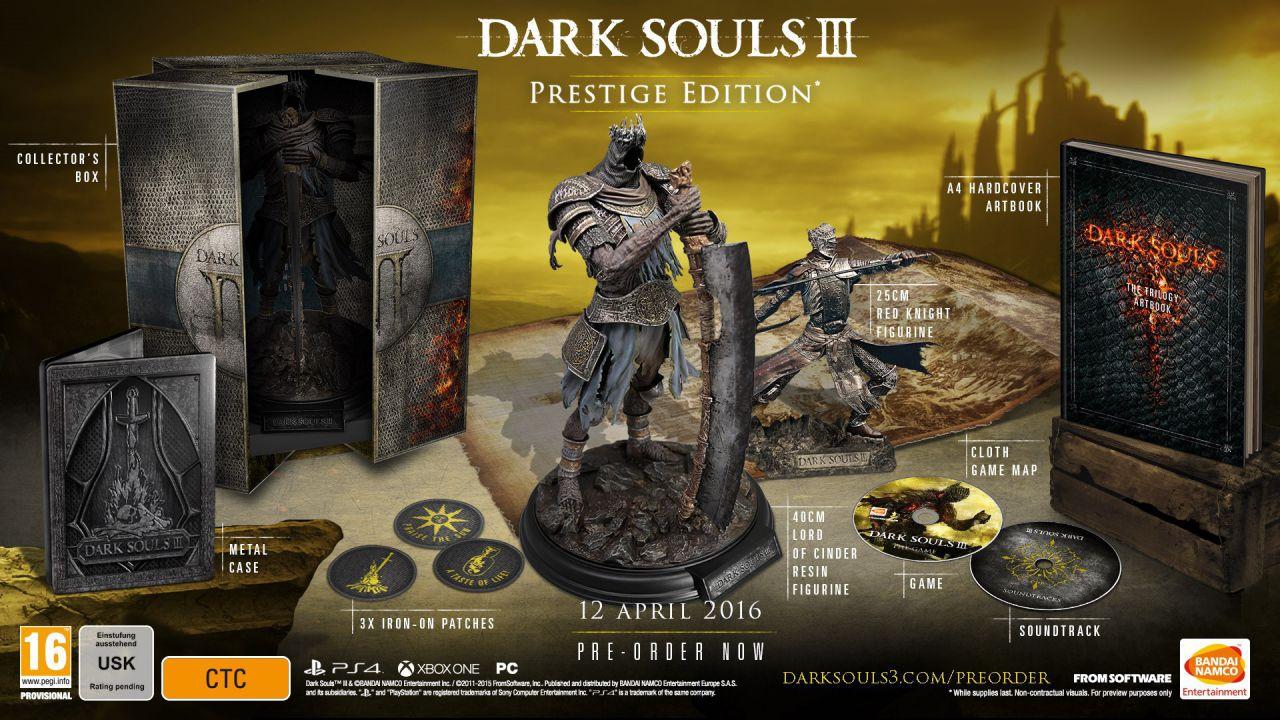 Dark Souls III: Già terminata la Prestige Edition