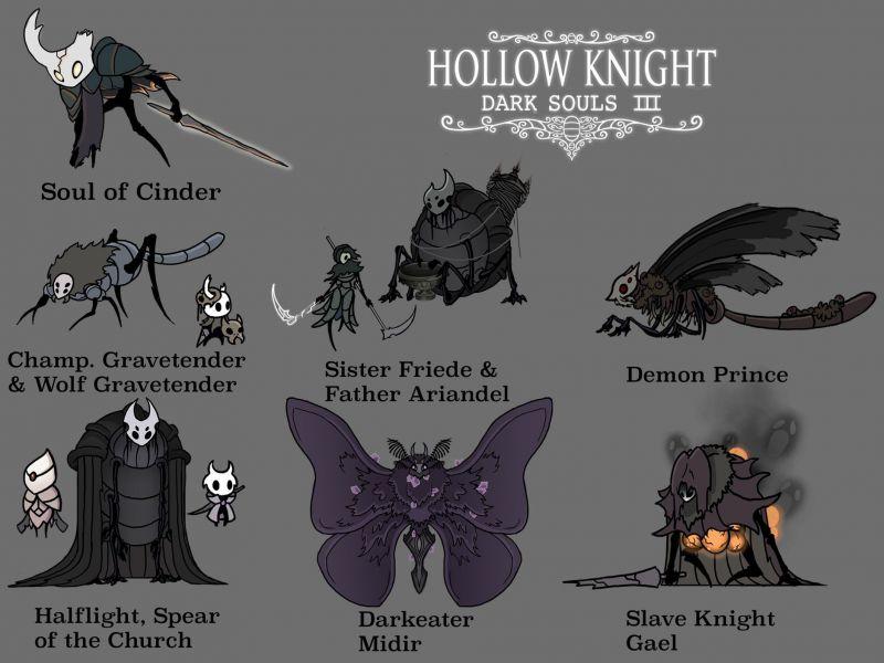 Dark Souls x Hollow Knight: il crossover prende vita in una serie di fan art