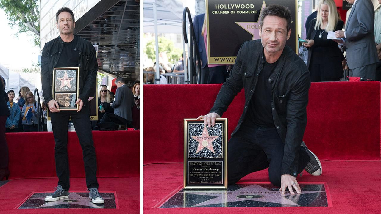 David Duchovny riceve una stella sulla Hollywood Walk of Fame