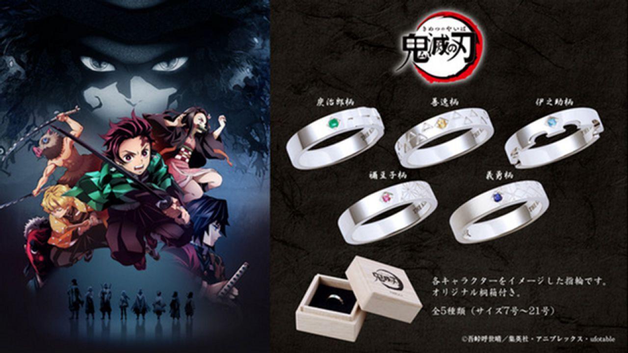 Demon Slayer: il merchandise si arricchisce con una nuova serie di anelli da €120 l'uno