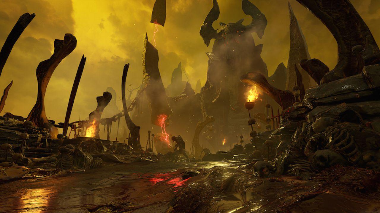 Demoni dall'inferno invadono le immagini di DOOM