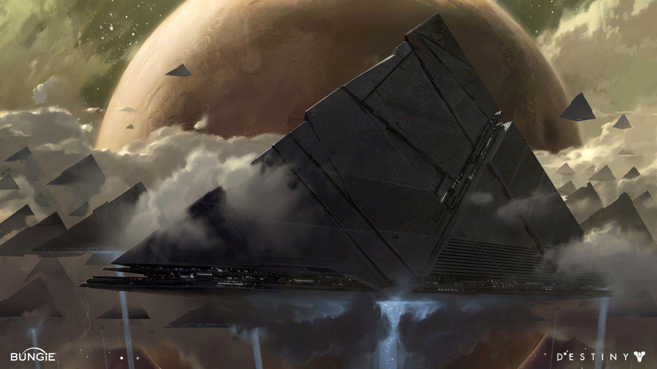 Destiny 2: ecco le reali dimensioni del Viaggiatore e delle Astronavi Piramidali