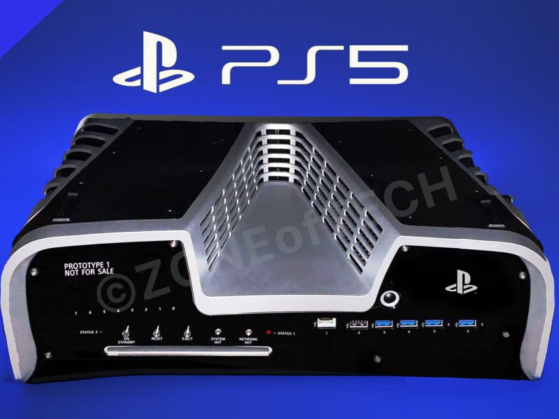 PS5 Devkit: New photos for Sony's V-shaped console prototype