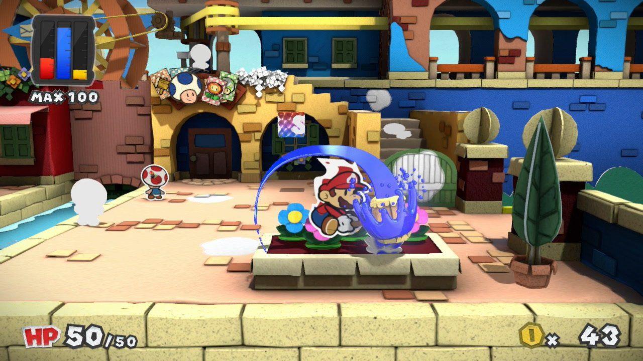 Dieci minuti di gameplay di Paper Mario Color Splash dal Comic-Con di San Diego