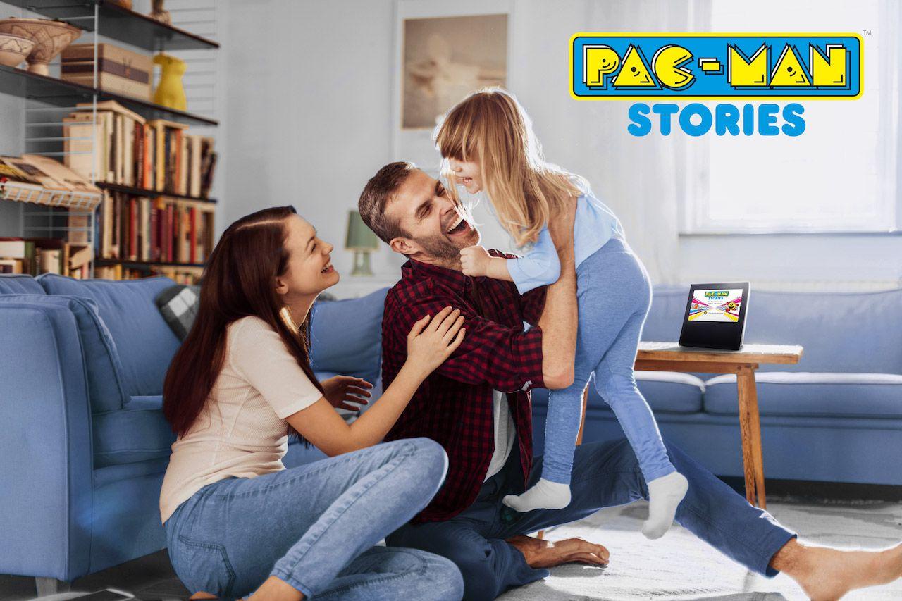divertimento e avventure interattive in arrivo per amazon alexa con pac man stories. Black Bedroom Furniture Sets. Home Design Ideas