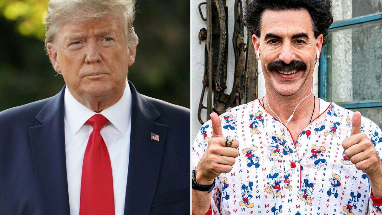 Trump contro Borat: