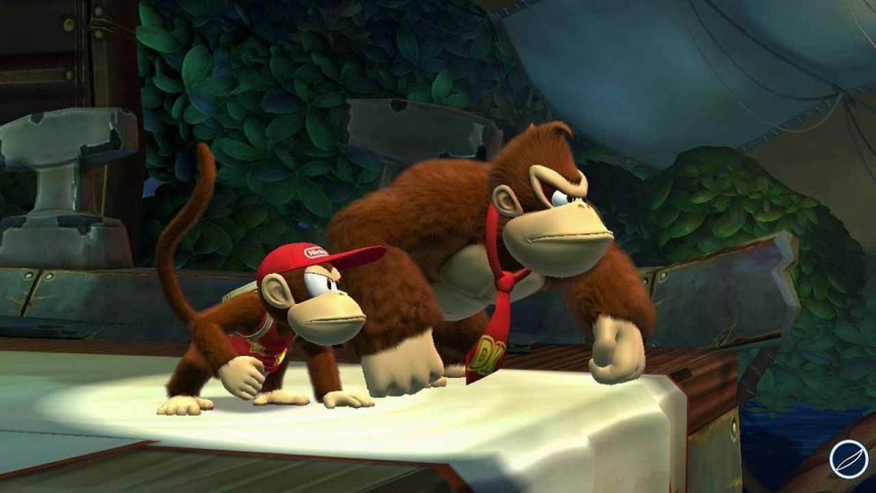 Donkey Kong Country: Tropical Freeze - uno screenshot per l'artwork del disco