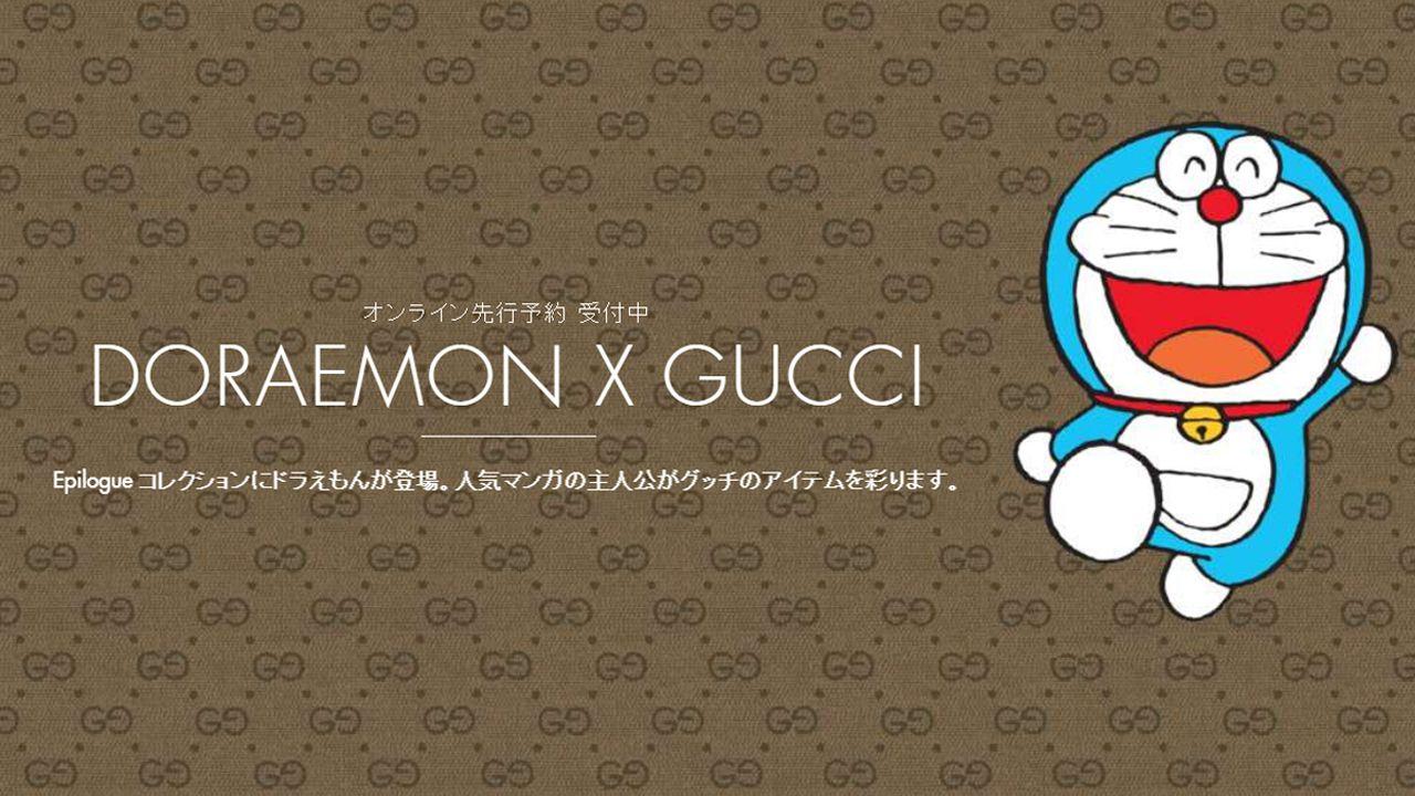Doraemon diventa glamour con la nuova partnership di Gucci
